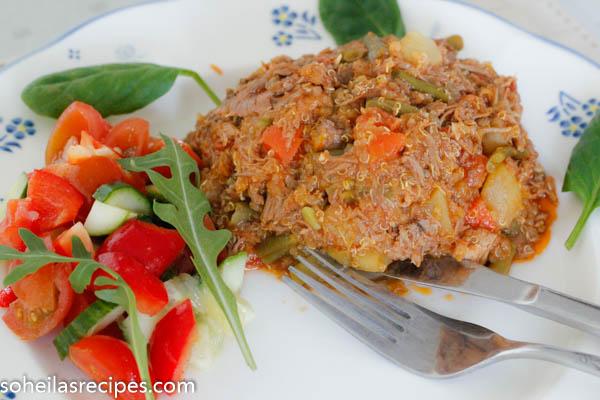 Quinoa med lammekjøtt
