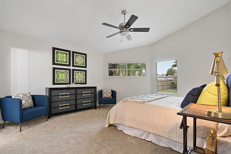 spacious inviting bedroom