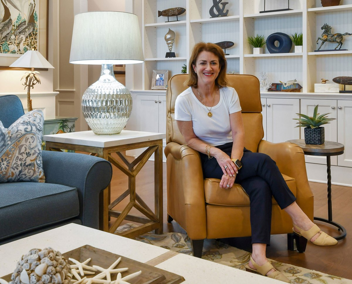 Carmen photographed at her Heron Drive residential project