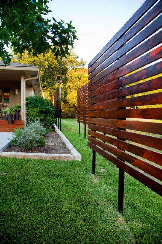 Wood landscape screen