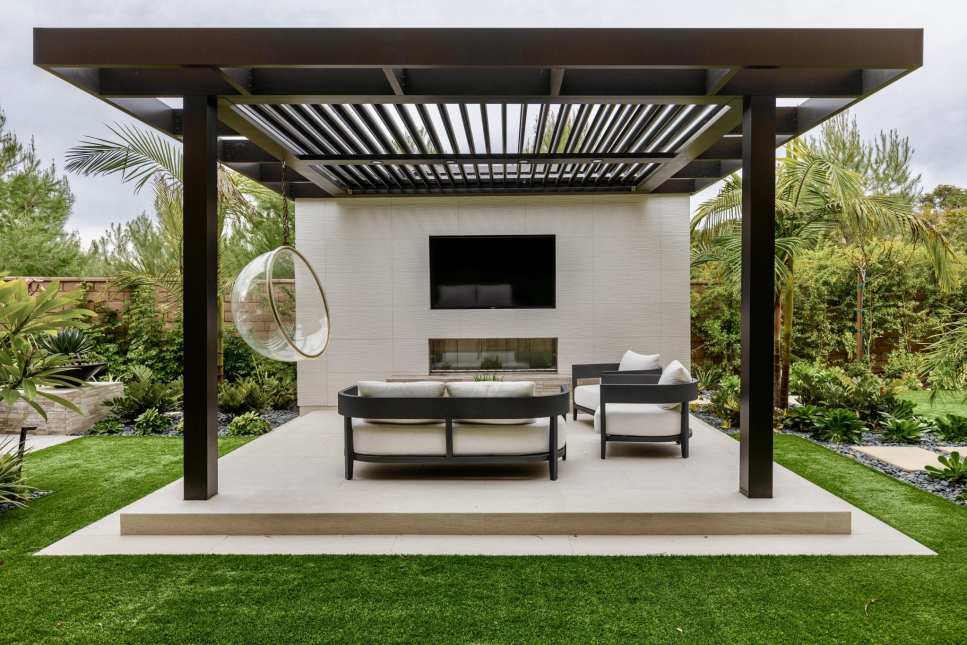 Enhance your backyard with a covered pergola or cabana