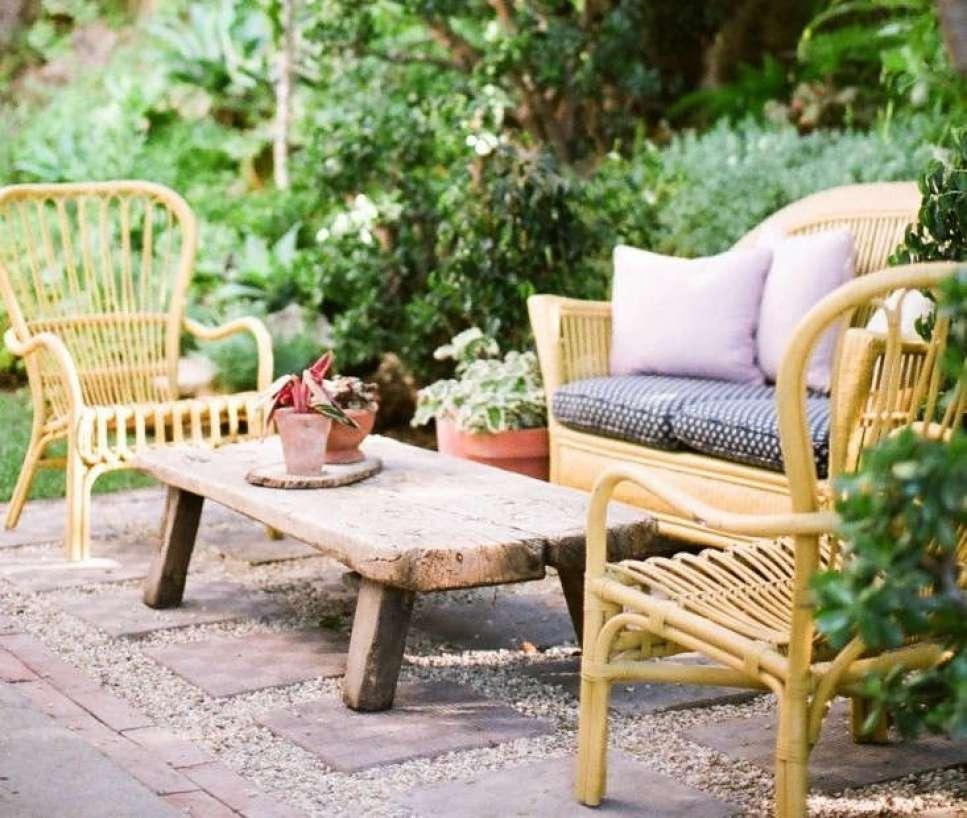 painted rattan furniture