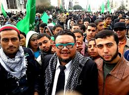 Afdlin Shauki bersama pendudak Gazza, Palestin