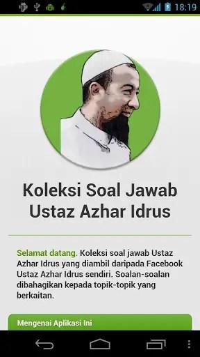 Applikasi Ustaz Azahr Idrus 1