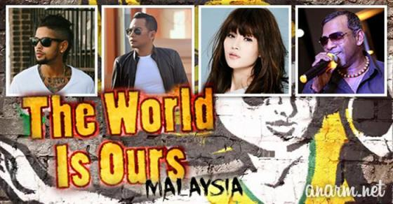 penyanyi lagu the world is ours