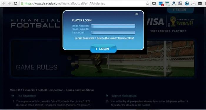 cara daftar visa financial football