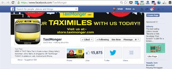 facebook Taxi Monger