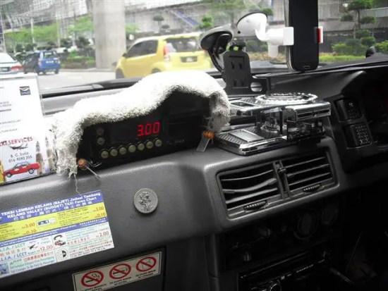 meter perjalanan teksi