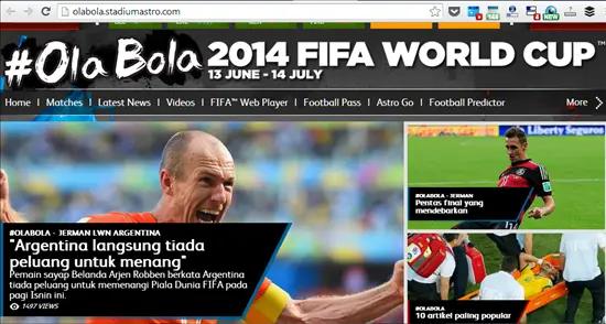 Screenshot daripada http://olabola.stadiumastro.com/