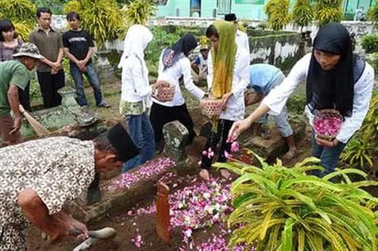 Hukum Menyiram Air dan Menaburkan Bunga Di Kubur