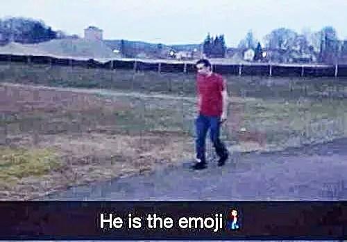 orang emoji sebenar ditemui