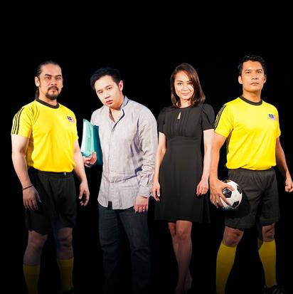 Dari kiri: Awie, Douglas Lim, Maya Karin dan Rashidi Ishak