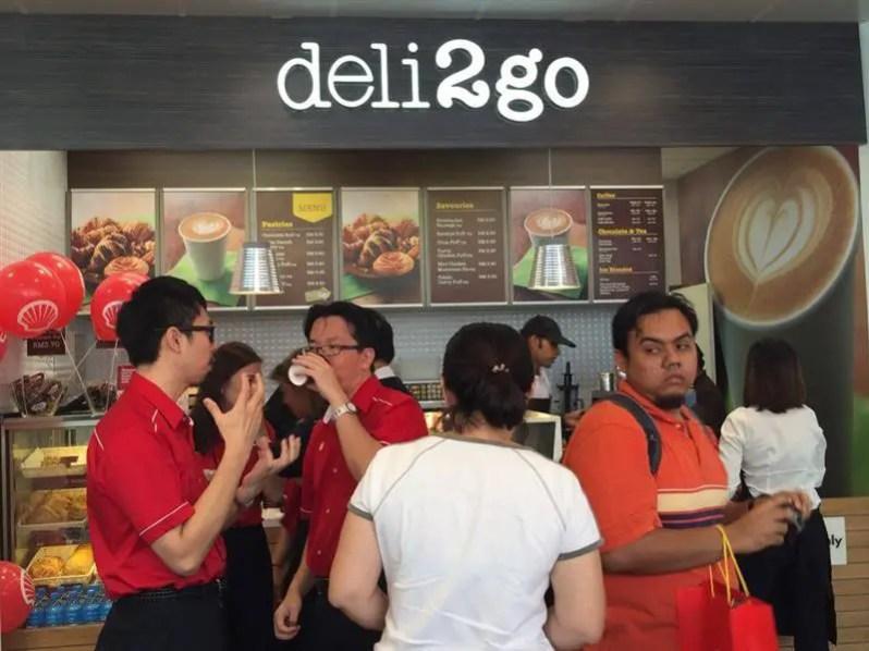 Deli2Go cafe yang dah sedia ada dalam Kedai Select