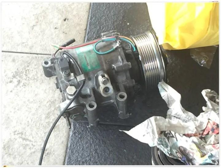 compressor air cond yang dah siap dibaiki