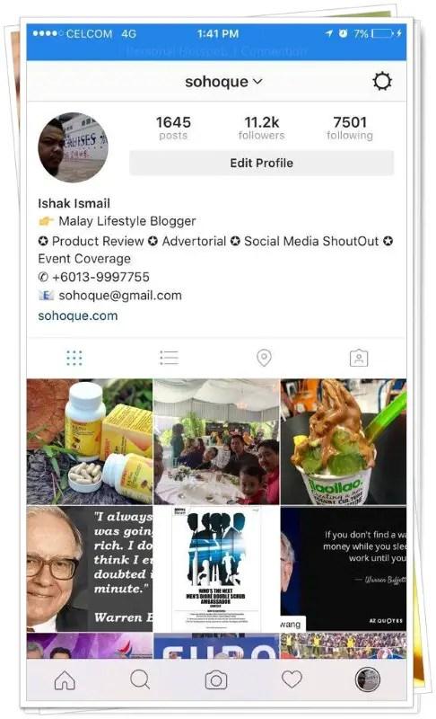 Ni akaun Instagram aku. Jom follow:
