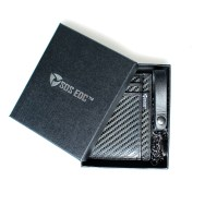 Minimalist Carbon Fiber RFID Blocking Anti-Theft Card Case Wallet with Chain
