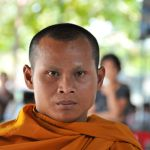 buddhist monk prior to hip surgery
