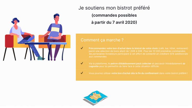 Plateforme pour soutenir les professionels cafés, hôtels et restaurants - jaimemonbistrot.fr