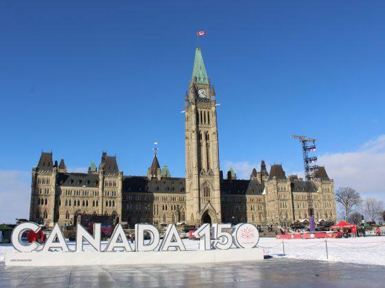 Parlement du Canada à Ottawa en hiver