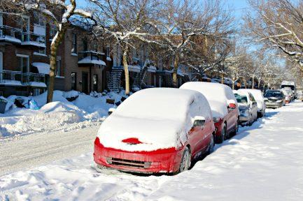 Ma rue après une petite tempête de neige