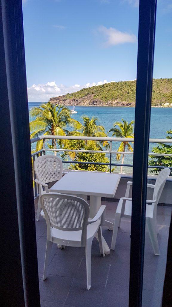 La vue depuis le balcon de notre chambre!