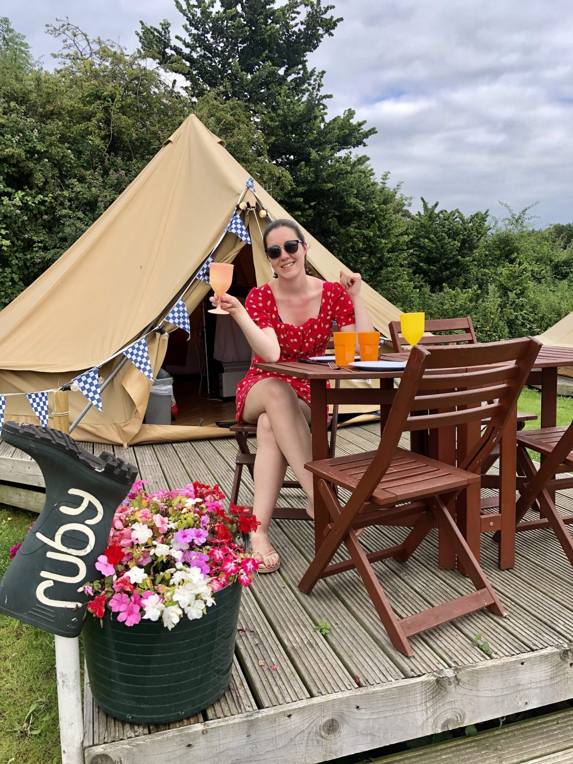 bell tent au Whitecliff Bay Holiday Park