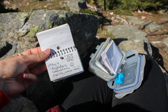 La Geocache sur la randonnée du Big Beehive à Banff