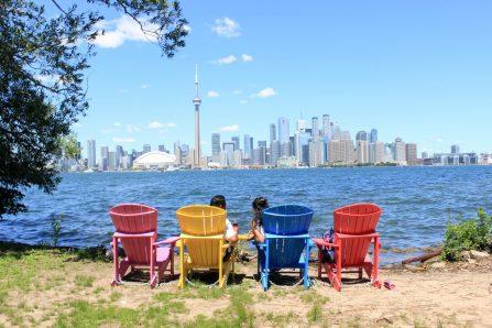 Vue sur Toronto depuis les Toronto Islands