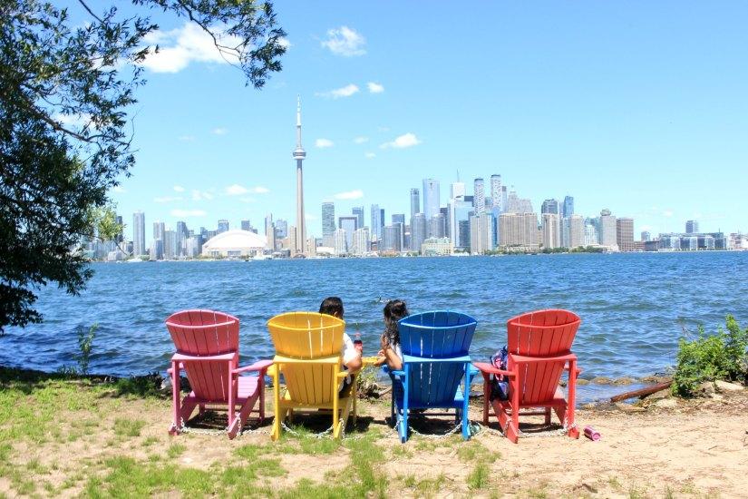 Skyline de Toronto depuis les îles