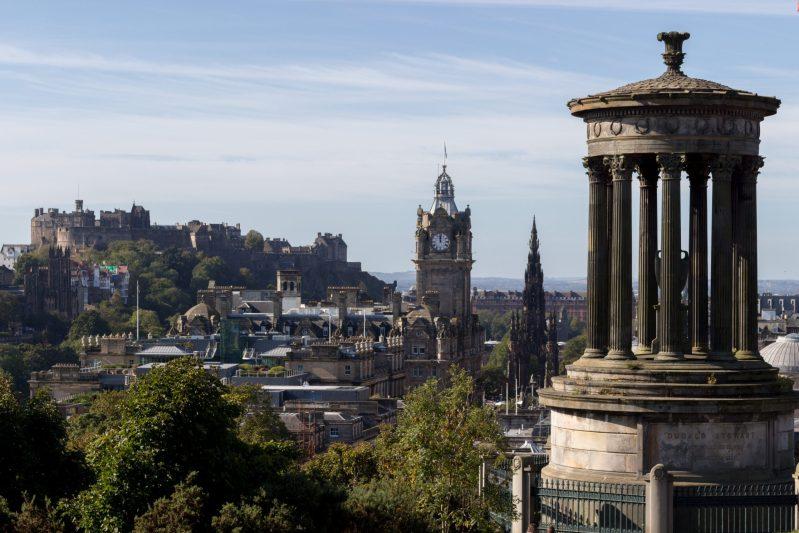 Point de vue depuis Calton Hill à Édimbourg