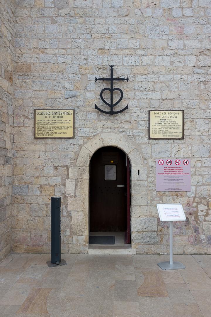Entrée du Sanctuaire des Saintes-Maries-de-la-mer