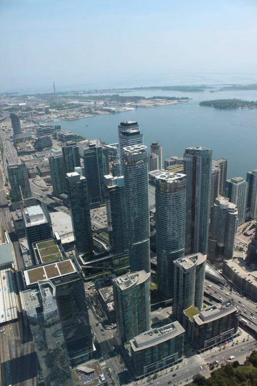 La vue depuis l'observatoire de la CN Tower