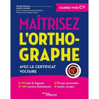 livre pour se préparer à passer le Certificat Voltaire