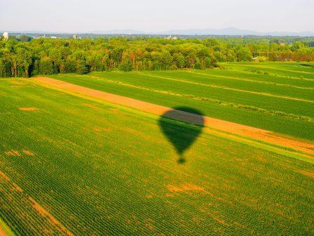 L'ombre de notre montgolfière