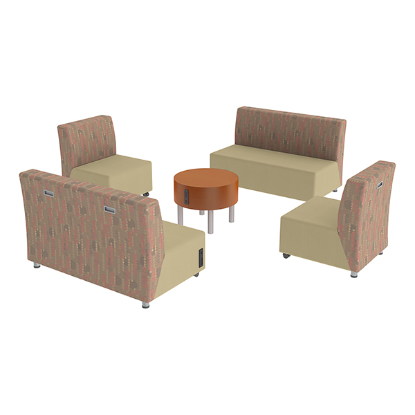 shapes series ii designer soft seating two sofas two chairs coffee table