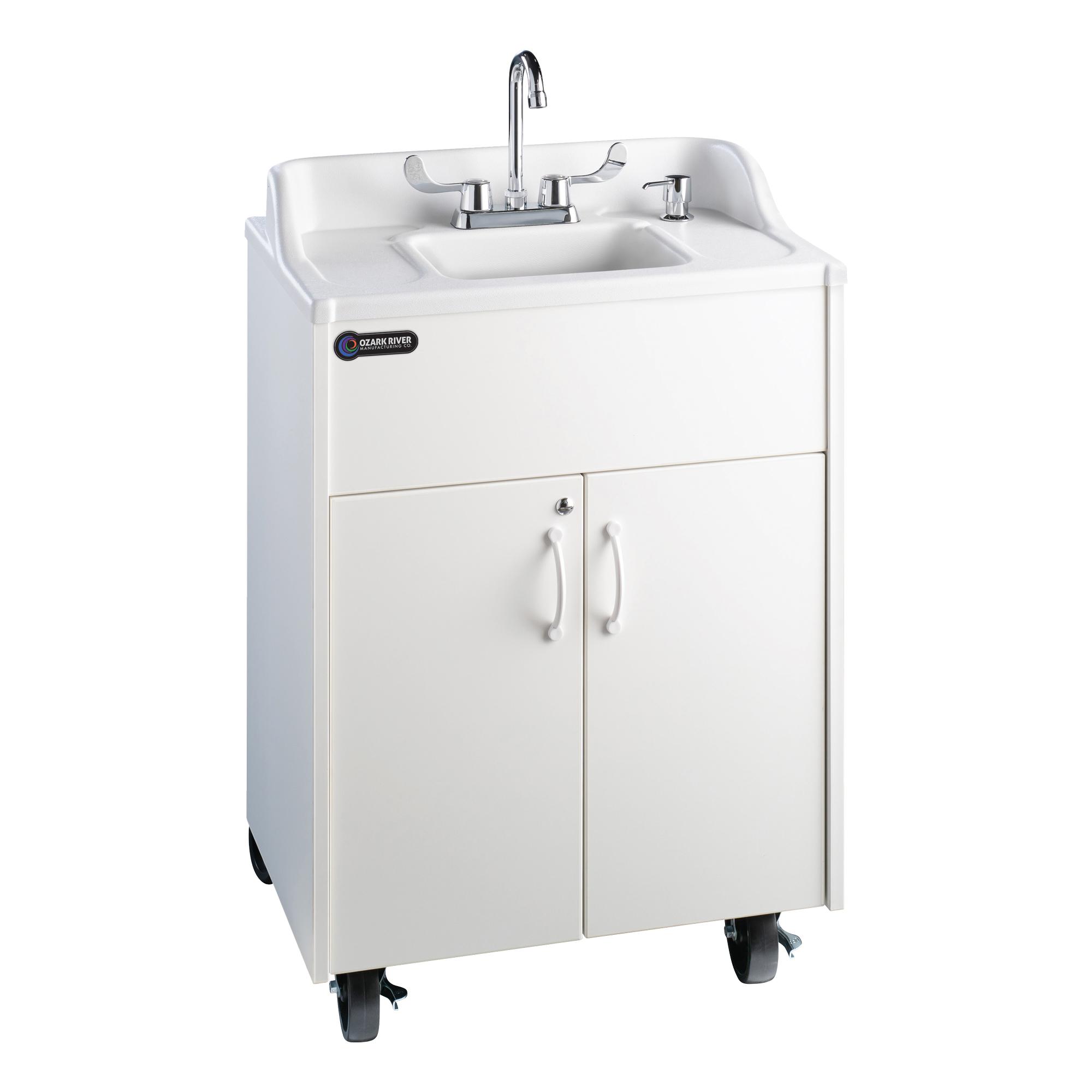 premier bright white portable sink