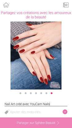 nail art arraignee rouge