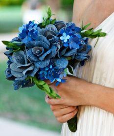 bouquet de bleu en tissu