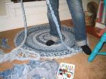 faire des tapis avec des reste de tissus