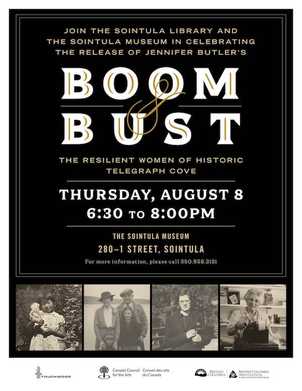 Book Release Event - Boom Bust: The Resilient Women of Historic Telegraph Cove by Jennifer Butler