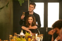 Klaus and Hayley at his onboarding dinner
