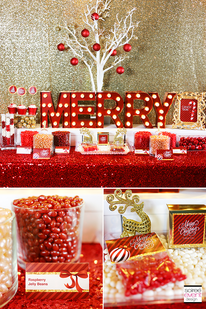 Merry Christmas Jelly Bean Bar FREE Printables Soiree