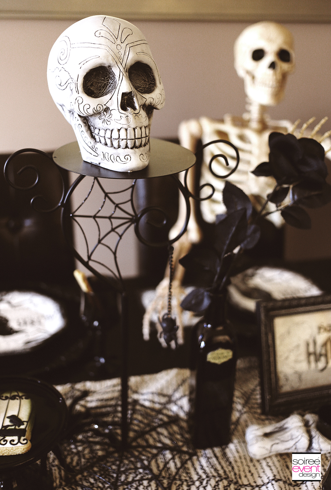 Spooky Soiree Halloween Dinner Party Soiree Event Design