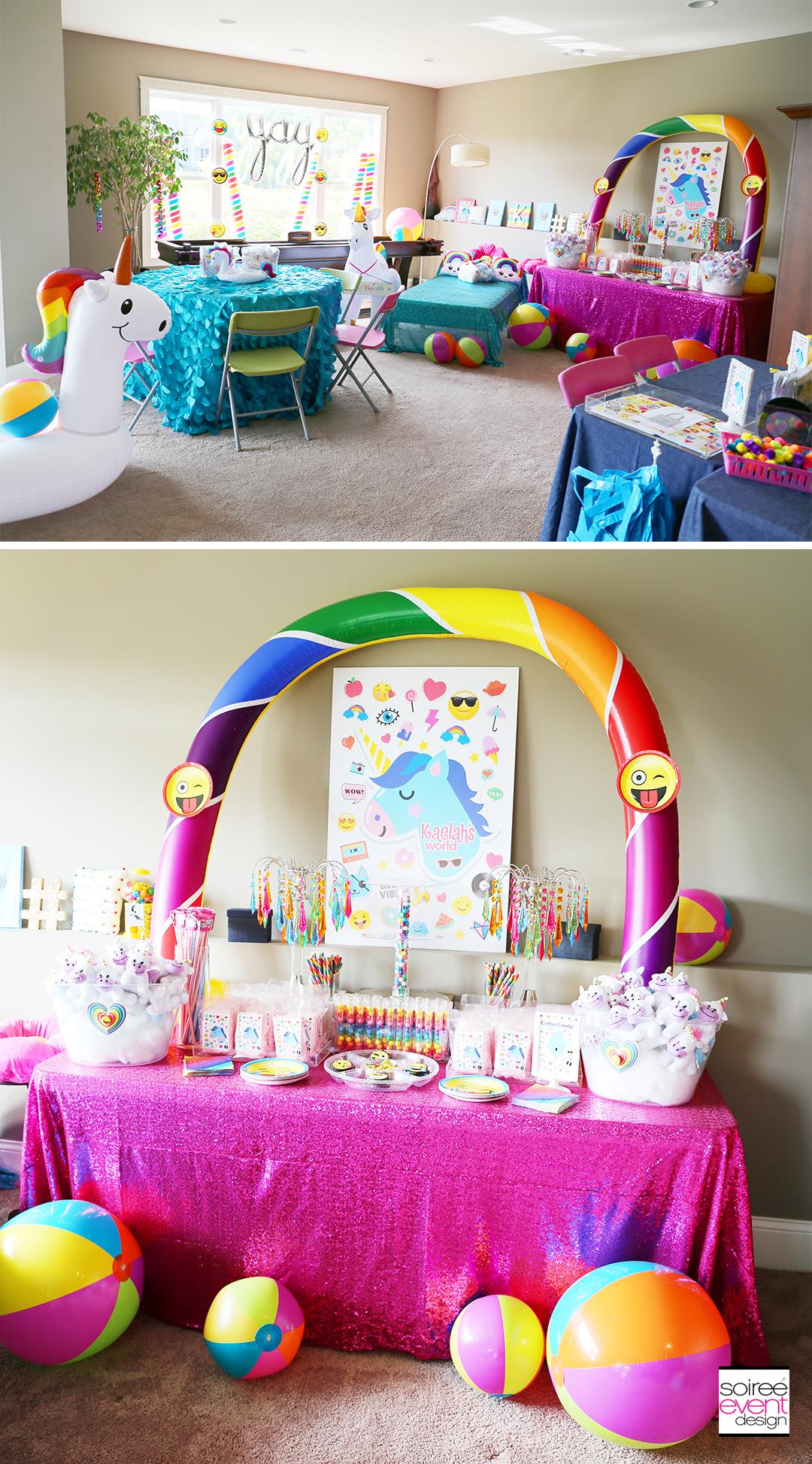 Rainbow Unicorn Emoji Party Ideas
