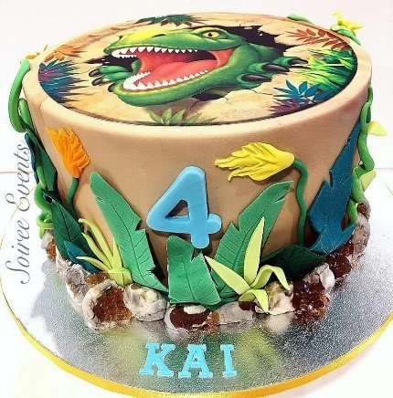 Cool T Rex Cake Soiree Personalised Birthday Cards Paralily Jamesorg