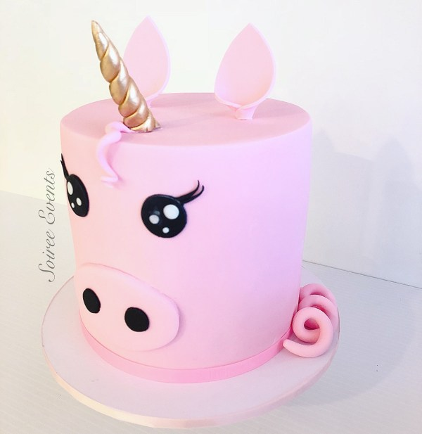 Unicorn Piggy Cake