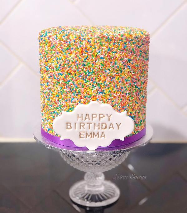 sprinkle fairy cake with plaque