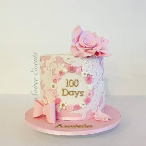 100 days old lace cake