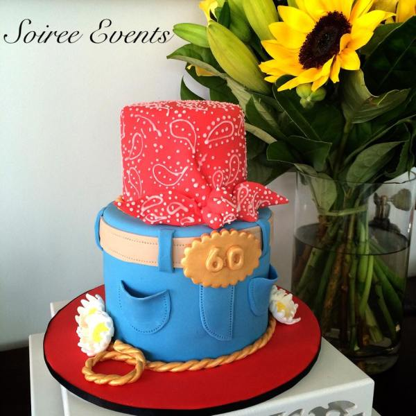 paisly cow girl cake