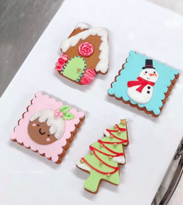 cute christmas cookie set